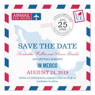 Reserva del correo aéreo de México la fecha Invitaciones Magnéticas