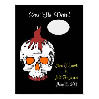 ¡Reserva del cráneo del gótico la fecha! Postal de