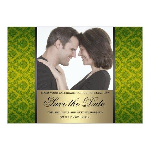 Reserva del damasco la foto de la fecha invitaciones personales