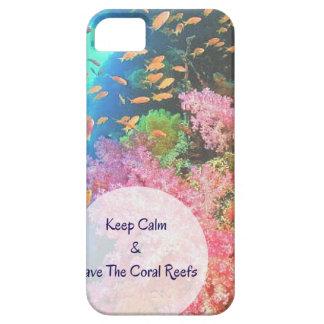 Reserva del ~ de S.O.S los arrecifes de coral Funda Para iPhone 5 Barely There