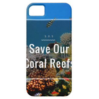 Reserva del ~ de S.O.S nuestros arrecifes de coral iPhone 5 Carcasas