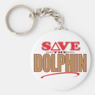Reserva del delfín llavero redondo tipo pin