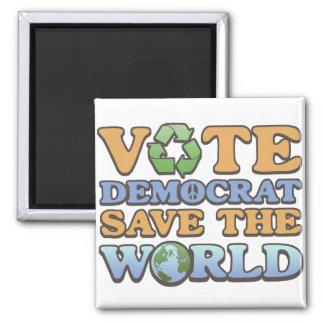 Reserva del Dem del voto el mundo Imán Cuadrado