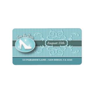 Reserva del deslizador de Cenicienta la etiqueta d Etiqueta De Dirección