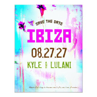 Reserva del destino de IBIZA la fecha Invitación Personalizada