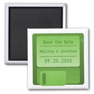 Reserva del disco blando el imán de la fecha, verd
