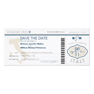 Reserva del documento de embarque de Italia la Invitación 10,1 X 23,5 Cm
