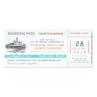 reserva del documento de embarque de la travesía invitaciones personalizada