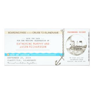 """reserva del documento de embarque de la travesía invitación 4"""" x 9.25"""""""