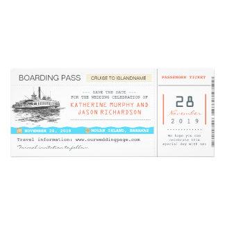 reserva del documento de embarque de la travesía l invitaciones personalizada