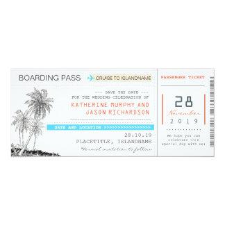 """reserva del documento de embarque de los billetes invitación 4"""" x 9.25"""""""