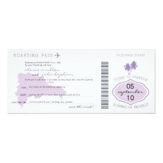 """Reserva del documento de embarque la fecha a la invitación 4"""" x 9.25"""""""
