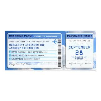 """reserva del documento de embarque que la fecha invitación 4"""" x 9.25"""""""