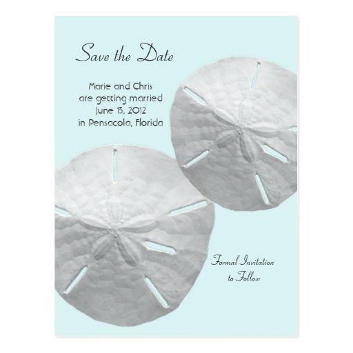 Reserva del dólar de arena el boda del tema de la  tarjetas postales