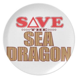 Reserva del dragón del mar platos
