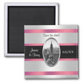 Reserva del Empire State Building el rosa blanco Imanes Para Frigoríficos