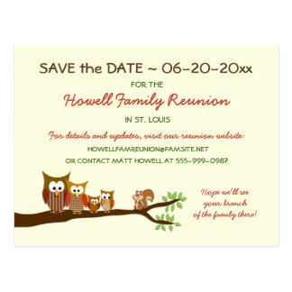Reserva del fiesta de la reunión del árbol de tarjetas postales