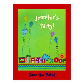 Reserva del fiesta la fecha postales