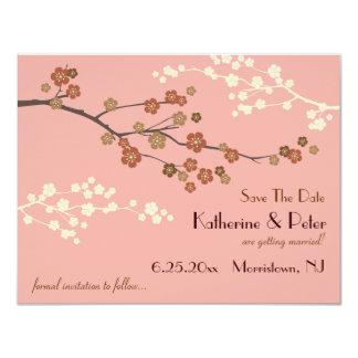 """Reserva del flor del ciruelo la tarjeta AP de la Invitación 4.25"""" X 5.5"""""""