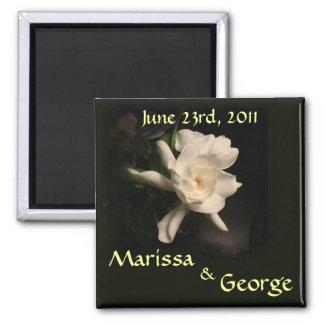 Reserva del Gardenia el imán del boda de la fecha