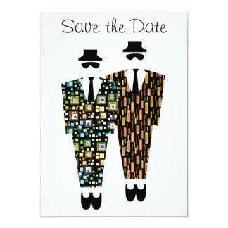 Reserva del gay la tarjeta de la invitación de la invitación 12,7 x 17,8 cm