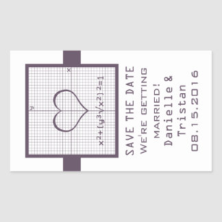 Reserva del gráfico de la matemáticas de Purple Pegatina Rectangular