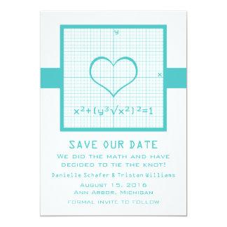 """Reserva del gráfico de la matemáticas del corazón invitación 5"""" x 7"""""""