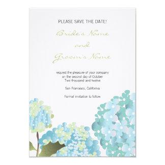 Reserva del Hydrangea la invitación del boda de la