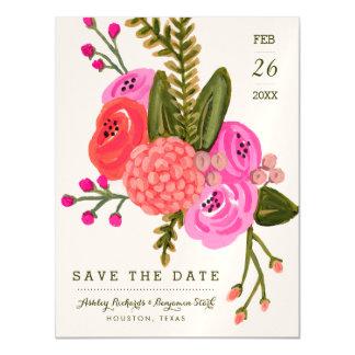 Reserva del jardín del vintage la fecha invitaciones magnéticas
