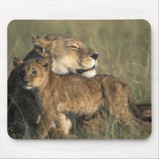 Reserva del juego de Kenia, Mara del Masai, leona Alfombrilla De Raton