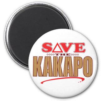 Reserva del Kakapo Imán Redondo 5 Cm
