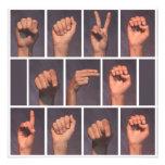 Reserva del lenguaje de signos la fecha invitaciones personales