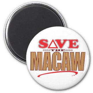 Reserva del Macaw Imán Redondo 5 Cm