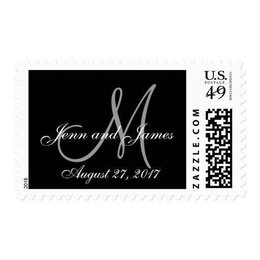 Reserva del monograma el gris del negro de la sello