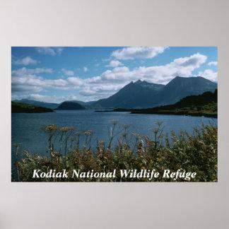 Reserva del nacional del Kodiak Póster