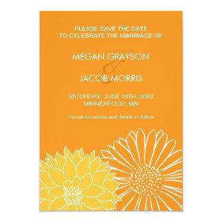 Reserva del naranja la invitación de la fecha