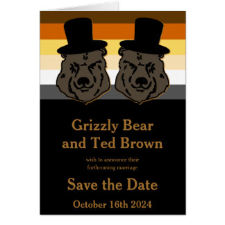 Reserva del orgullo del oso el oro y el negro de tarjeta pequeña