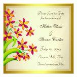 Reserva del oro de las flores del lirio del carame comunicados personales