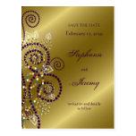 reserva del oro de los espirales de la púrpura de tarjeta postal