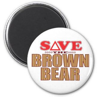 Reserva del oso de Brown Imán Redondo 5 Cm