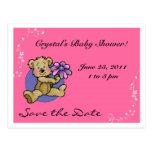 Reserva del oso de peluche la fecha tarjeta postal