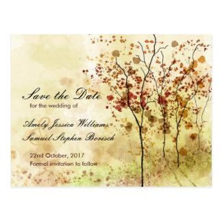 Reserva del otoño de la acuarela la postal de la f