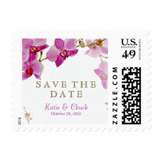 Reserva del paraíso de la orquídea el franqueo de sellos