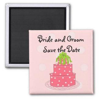 Reserva del pastel de bodas la fecha imán