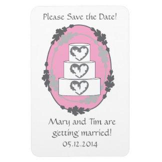 Reserva del pastel de bodas la fecha imán de vinilo