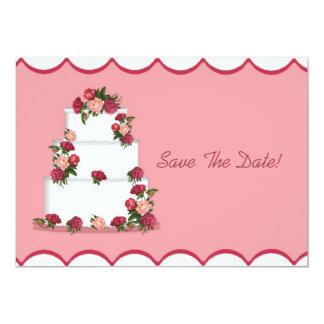 """Reserva del pastel de bodas la fecha invitación 5"""" x 7"""""""