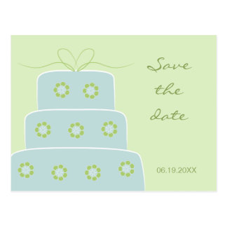 Reserva del pastel de bodas la postal de la fecha