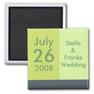 Reserva del personalizable el imán de la fecha