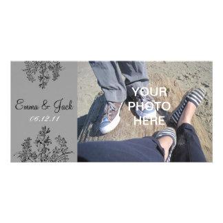 Reserva del personalizado la fecha tarjeta fotografica personalizada
