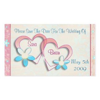 Reserva del personalizado la invitación de boda de tarjetas personales